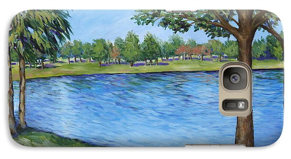 Galaxy Case featuring the painting Crest Lake Park by Penny Birch-Williams