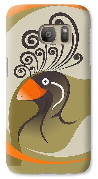 crestedAUKLET Galaxy S7 Case by Mariabelones ART