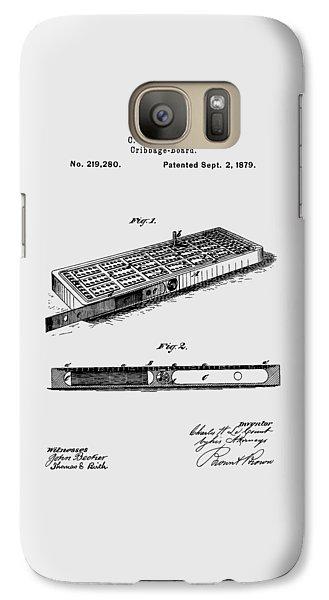 Cribbage Board 1879 Patent Art Transparent Galaxy S7 Case