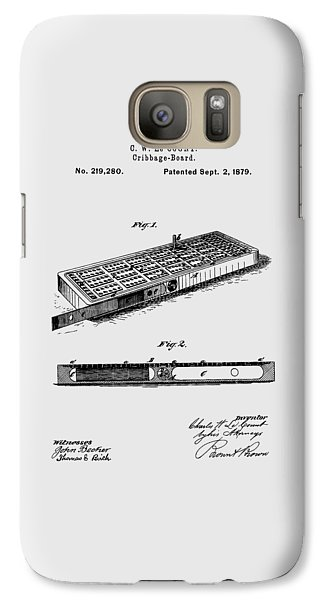 Cribbage Board 1879 Patent Art Transparent Galaxy S7 Case