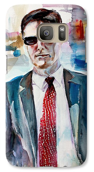 Galaxy Case featuring the painting Criminal Minds Aaron Hotchner The Way I See Him by Ginette Callaway