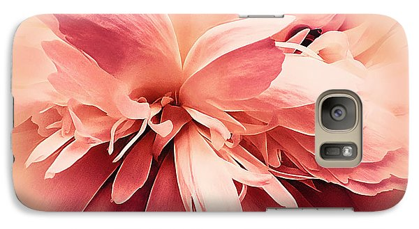Galaxy Case featuring the photograph Crimson Ballet Powder Puff by Darlene Kwiatkowski