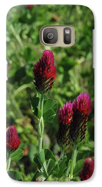 Galaxy Case featuring the photograph Crimson Clover by Robyn Stacey