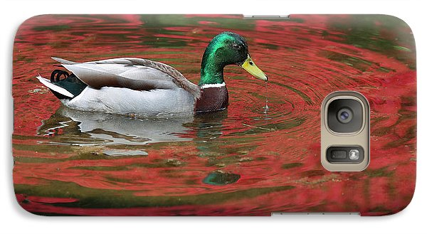 Galaxy Case featuring the photograph Crimson Reflections by Elvira Butler