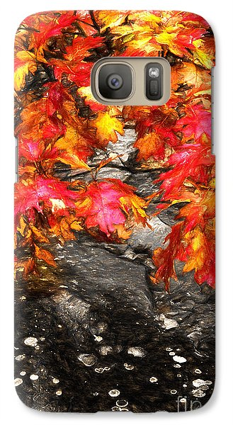 Galaxy Case featuring the painting Crimson Splendor II by Dan Carmichael