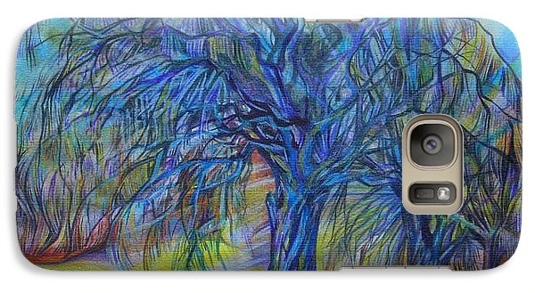 Galaxy Case featuring the drawing Crystal Light by Anna  Duyunova