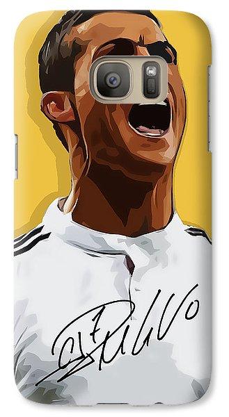 Cristiano Ronaldo Cr7 Galaxy S7 Case by Semih Yurdabak