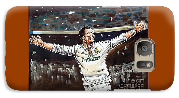 Cristiano Ronaldo Of Real Madrid Galaxy S7 Case by Dave Olsen