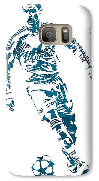 Cristiano Ronaldo Real Madrid Pixel Art 1 Galaxy S7 Case