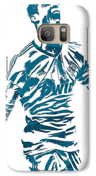 Cristiano Ronaldo Real Madrid Pixel Art 4 Galaxy S7 Case