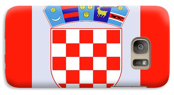 Galaxy Case featuring the drawing Croatia Coat Of Arms by Movie Poster Prints