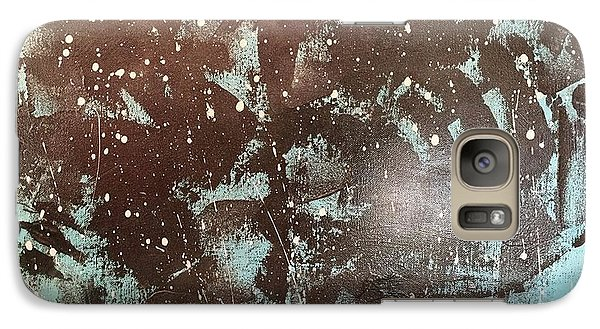 Galaxy Case featuring the painting Crouching Figures Lament by Theresa Kennedy DuPay