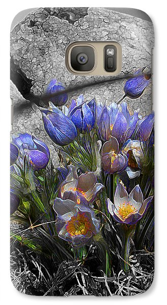 Galaxy Case featuring the digital art Crocus - Between A Rock And You by Stuart Turnbull