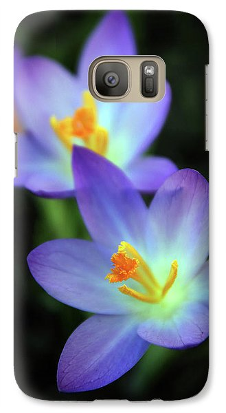 Galaxy Case featuring the photograph Crocus In Bloom by Jessica Jenney