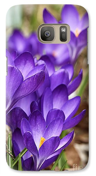 Galaxy Case featuring the photograph Crocuses by Larry Ricker