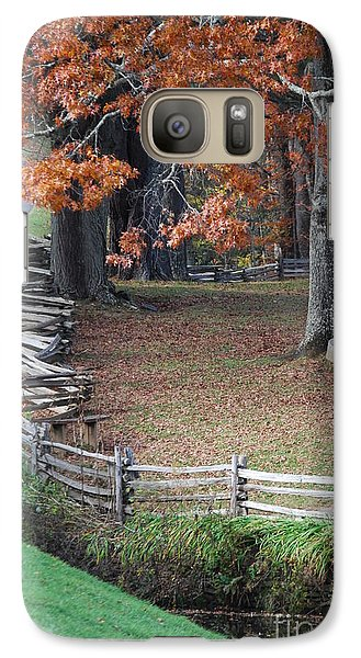 Galaxy Case featuring the photograph Crooked Fence by Eric Liller