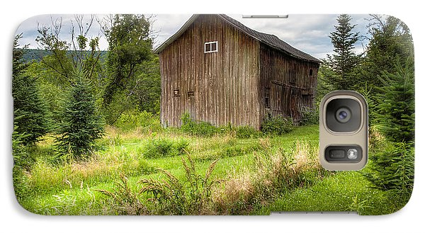 Galaxy Case featuring the photograph Crooked Old Barn On South 21 - Finger Lakes New York State by Gary Heller