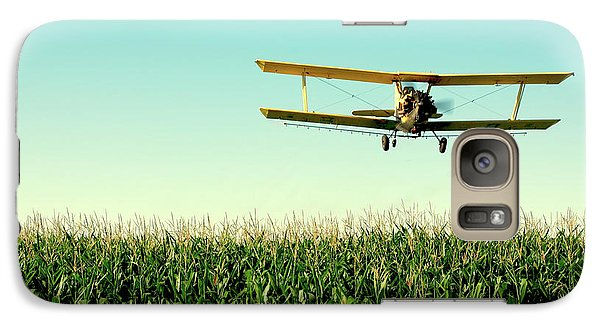 Crops Dusted Galaxy Case by Todd Klassy