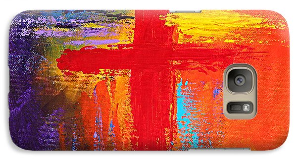 Galaxy Case featuring the painting Cross by Kume Bryant