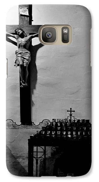 Galaxy Case featuring the photograph Cross Mission San Diego De Alcala by Christine Till
