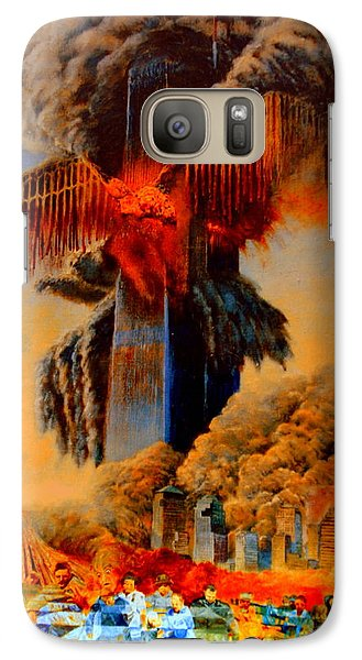 Galaxy Case featuring the painting Cross Of The Third Millennium by Henryk Gorecki
