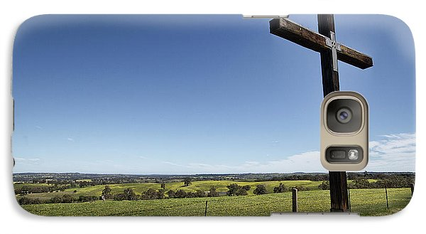 Galaxy Case featuring the photograph Cross On The Hill V3 by Douglas Barnard