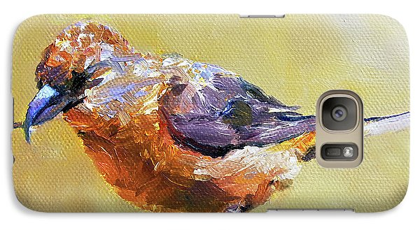 Crossbill Galaxy Case by Jan Hardenburger