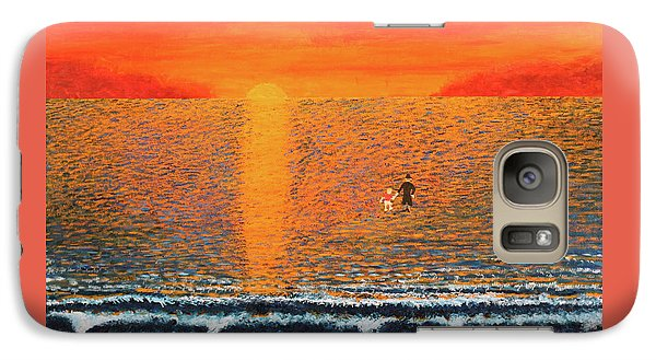 Galaxy Case featuring the painting Crossing Over by Thomas Blood