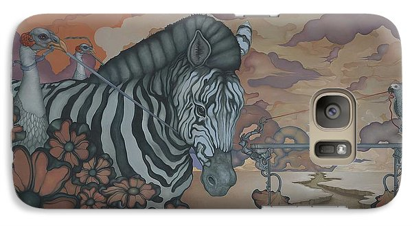 Galaxy Case featuring the painting Crossing The Mara by Andrew Batcheller