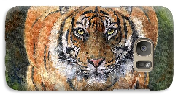 Galaxy Case featuring the painting Crouching Tiger by David Stribbling