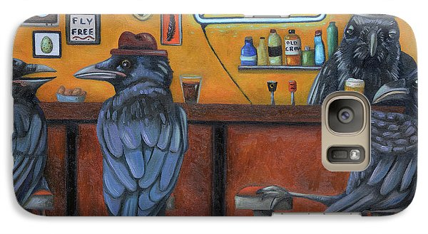 Galaxy Case featuring the painting Crow Bar by Leah Saulnier The Painting Maniac