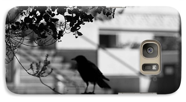 Galaxy Case featuring the photograph Crow Cameo by Kandy Hurley
