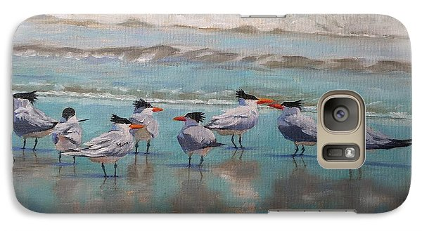 Galaxy Case featuring the painting Crowd Control by Pam Talley