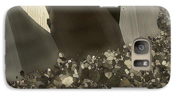Galaxy Case featuring the photograph Crowd by Olimpia - Hinamatsuri Barbu