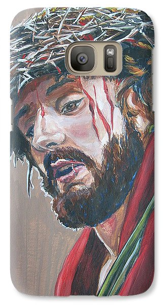 Galaxy Case featuring the painting Crown Of Thorns by Bryan Bustard