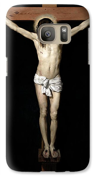 Galaxy Case featuring the digital art Crucifixion by Diego Velazquez