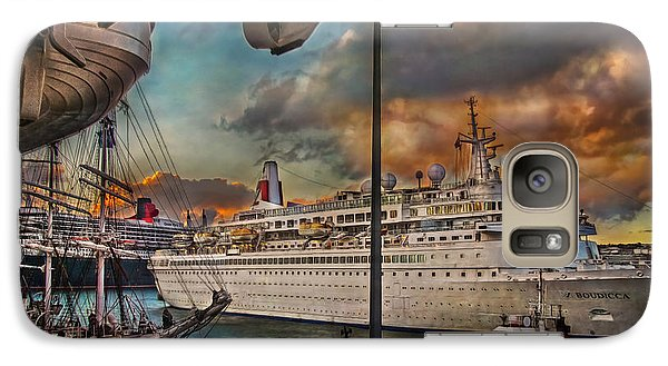 Galaxy Case featuring the photograph Cruise Port by Hanny Heim