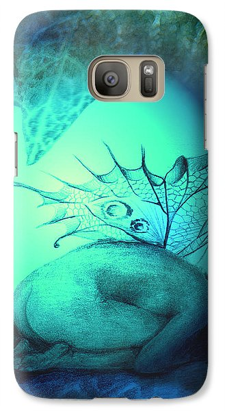 Galaxy Case featuring the painting Crying Fairy by Ragen Mendenhall