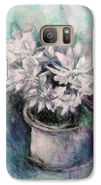 Galaxy Case featuring the painting Crysanthymums by Chris Hobel