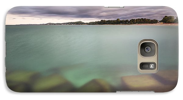 Galaxy Case featuring the photograph Crystal Clear Lake Michigan Waters by Adam Romanowicz