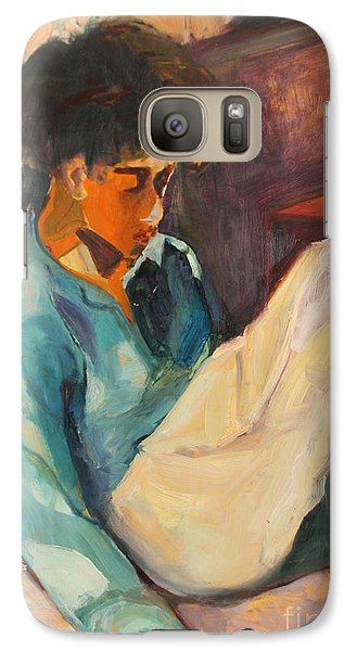 Galaxy Case featuring the painting Crystal by Daun Soden-Greene