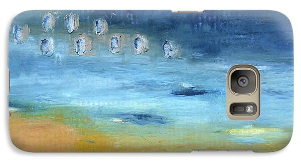Galaxy Case featuring the painting Crystal Deep Waters by Michal Mitak Mahgerefteh