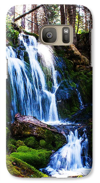 Galaxy Case featuring the photograph Crystal Fall by Jerry Cahill
