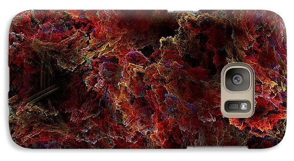 Galaxy Case featuring the digital art Crystal Inspiration Number Two Close Up by Olga Hamilton