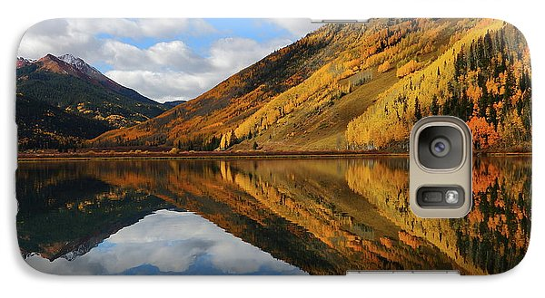 Galaxy Case featuring the photograph Crystal Lake Autumn Reflection by Jetson Nguyen