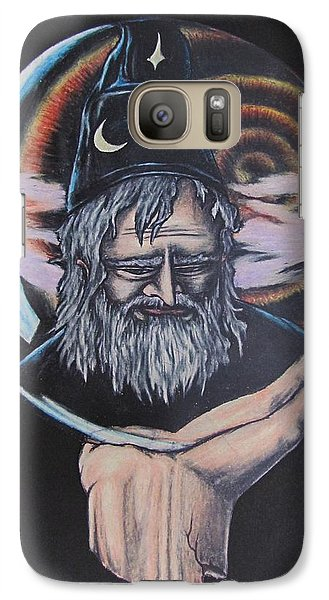 Galaxy Case featuring the drawing Crystal Wizard by Michael  TMAD Finney