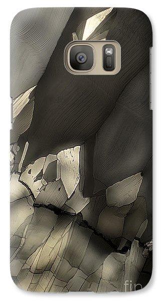 Galaxy Case featuring the photograph Falling Crystals by Olimpia - Hinamatsuri Barbu