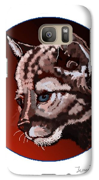 Galaxy Case featuring the drawing Cub by Terry Frederick