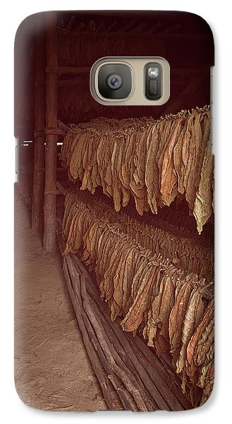 Galaxy Case featuring the photograph Cuban Tobacco Shed by Joan Carroll