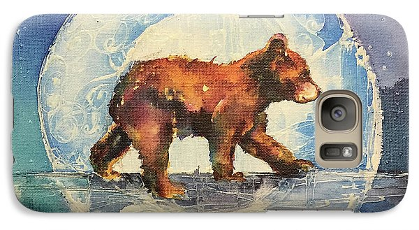 Galaxy Case featuring the painting Cubbie Bear by Christy Freeman